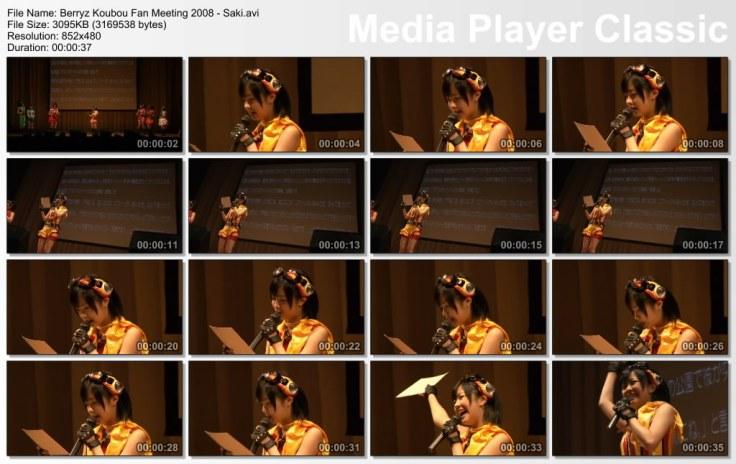 Berryz Koubou Fan Meeting 2008 - Saki