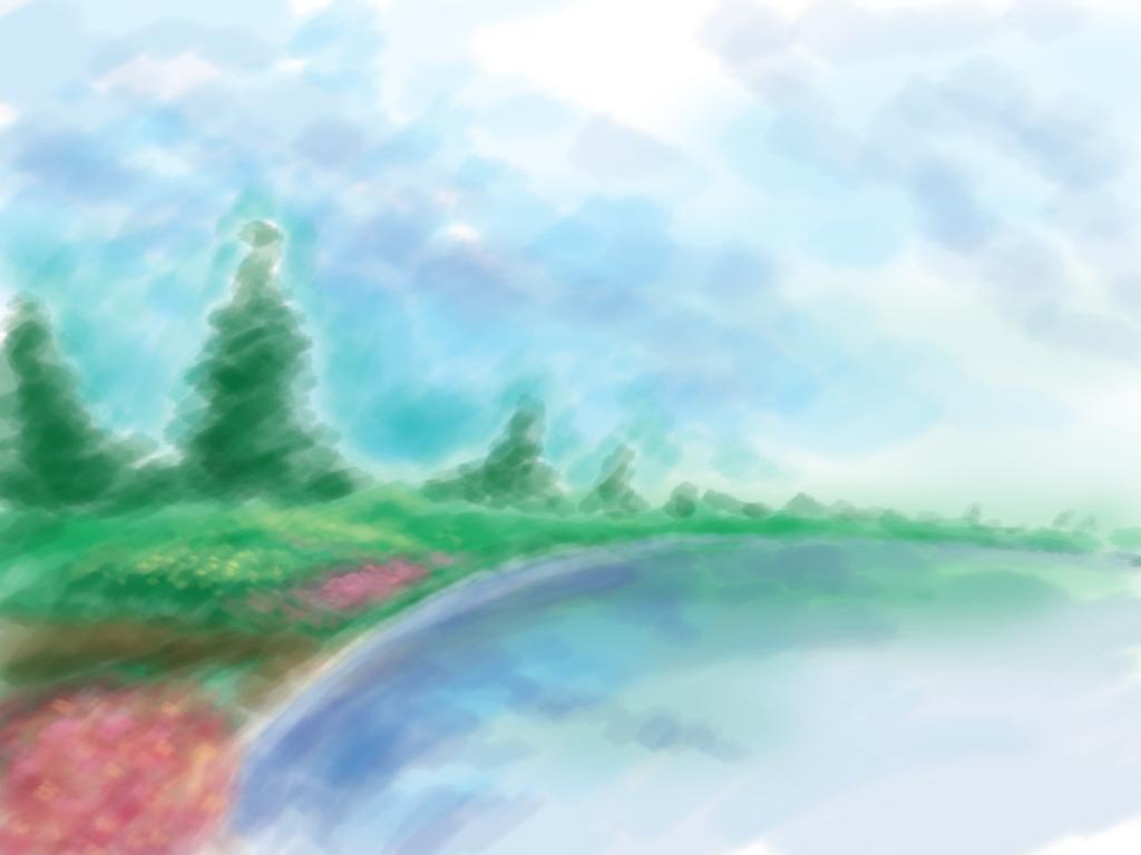 Lukisan landscape